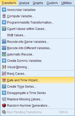 Langkah-langkah Date and Time Wizard pada SPSS